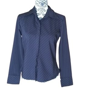 Ladies 7 Diamonds Fitted Button-down Blouse